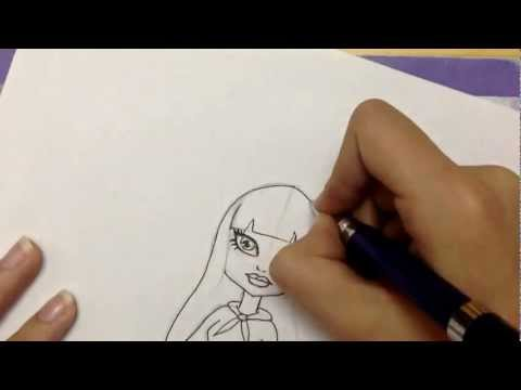 How To Draw TWYLA the New Monster High Girl !