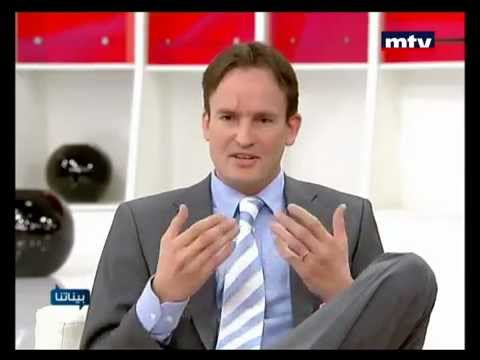 TV interview at MTV Lebanon previewing 3D Video Mapping on ALBA University in Lebanon