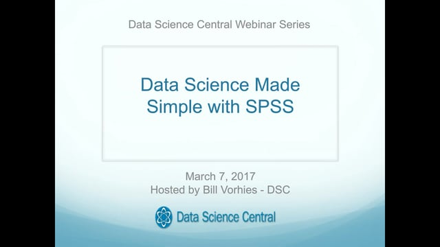 Data Science Made Simple with SPSS