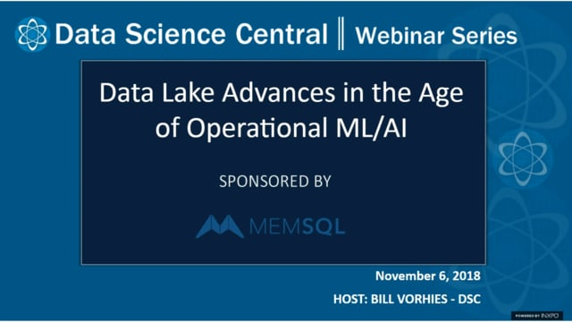 DSC Webinar Series: Data Lake Advances in the Age of Operational ML/AI
