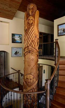totem pole sculpture