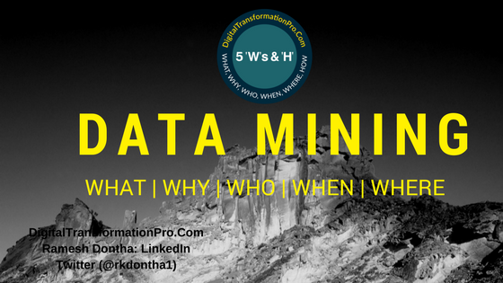 Data Mining - What, Why, When