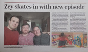 Zey The Mouse in the Newspaper New Film.