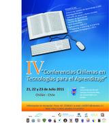 """IV """"Conferencias Chilenas en Tecnologías para el Aprendizaje"""""""