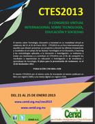 CTES2013 Congreso sobre Tecnología, Educación y Sociedad en modalidad virtual