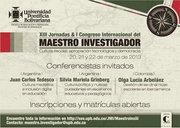 XIII Jornadas & I Congreso Internacional del Maestro Investigador