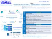 """Taller """"Modelos Lógicos para la Gestión/Diseño de Proyectos"""" Lima 19 y 20 de julio"""
