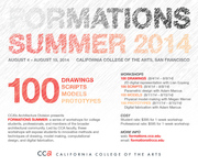 FORMATIONS Summer 2014 Workshops