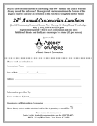 Agency on Aging of South Central Connecticut 26th Annual Centenarian Luncheon