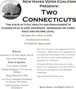 Two CTs: Racial and Economic Disparities in Civic Health & Civic Engagement in Connecticut