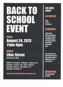 Back to School Event-