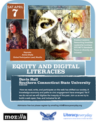 """""""Equity and Digital Literacies""""; Admission is free, but please register: info@literacyeveryday.org"""
