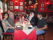 Me with friends at Italian restaurant at Baghdad 2011
