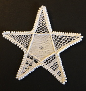 Needlelace star sampler with beads