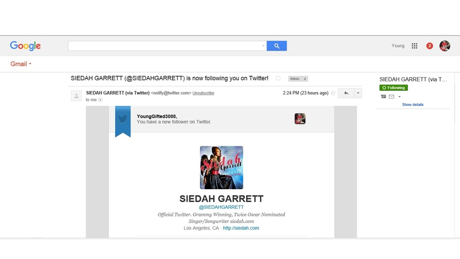 1 Love_Siedah Garrett_ Thx 4 For The Support!!  #YoungGifted3000