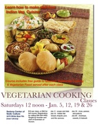 Vegetarian Cooking Classes In Indian Cuisine - SATURDAYS