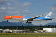 KLM PH-BVA B773 YVR Orange Pride