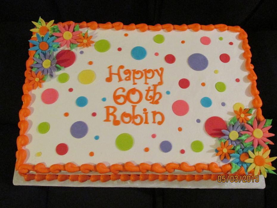 Polka Dot 60th Birthday Cake