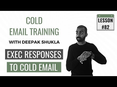 Executives Response Rate To Cold Email | Cold Email Training Day 82 Deepak Shukla