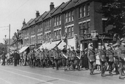 Territorial Army on Priory Road, 1935