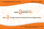 Open Access in Egypt, 2017- In order to Equalize Research Opportunities