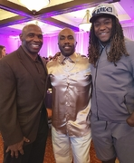Paul Anthony With NFL's first One Hand Player, Shaquem Griffin of The Seattle Seahawks and Charlie Strong, Head Coach of The University of South Florida.