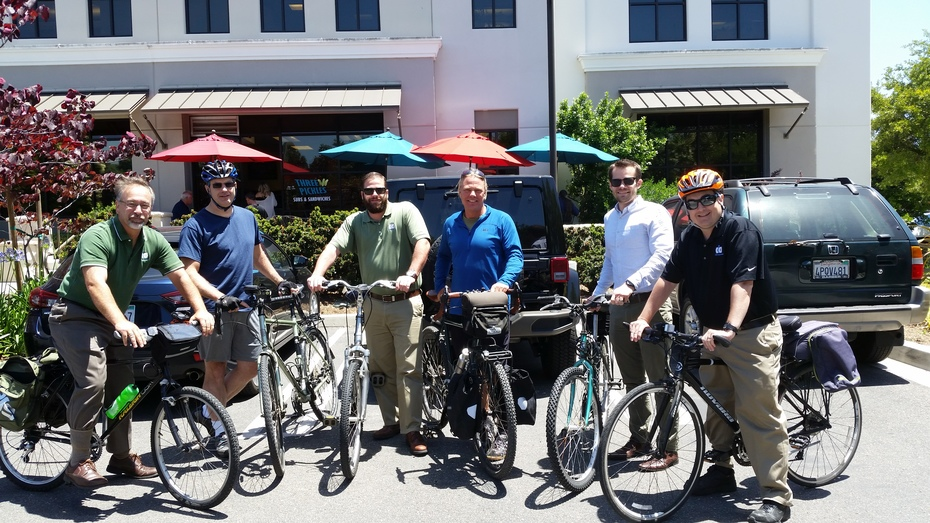CIO Solutions Bikes to Three Pickles for Lunch