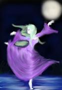 Elf in moonlight
