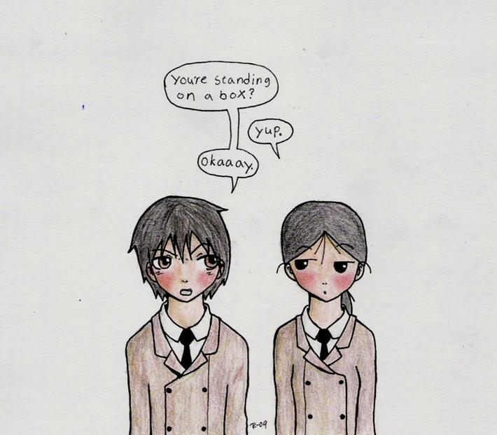 Negishi och Kuga från Sketchbook