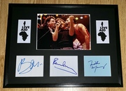 My Live Aid display, autographs by Freddie Mercury, Paul McCartney & Bono