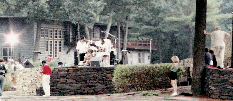 ME LEANING ON THE TREE AS EMCEE FOR SONNY ROLLINS AT OPUS 40, 1986.  THIS WAS WHILE FILMING SAXOPHONE COLOSSUS