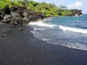Black Sand in Hana