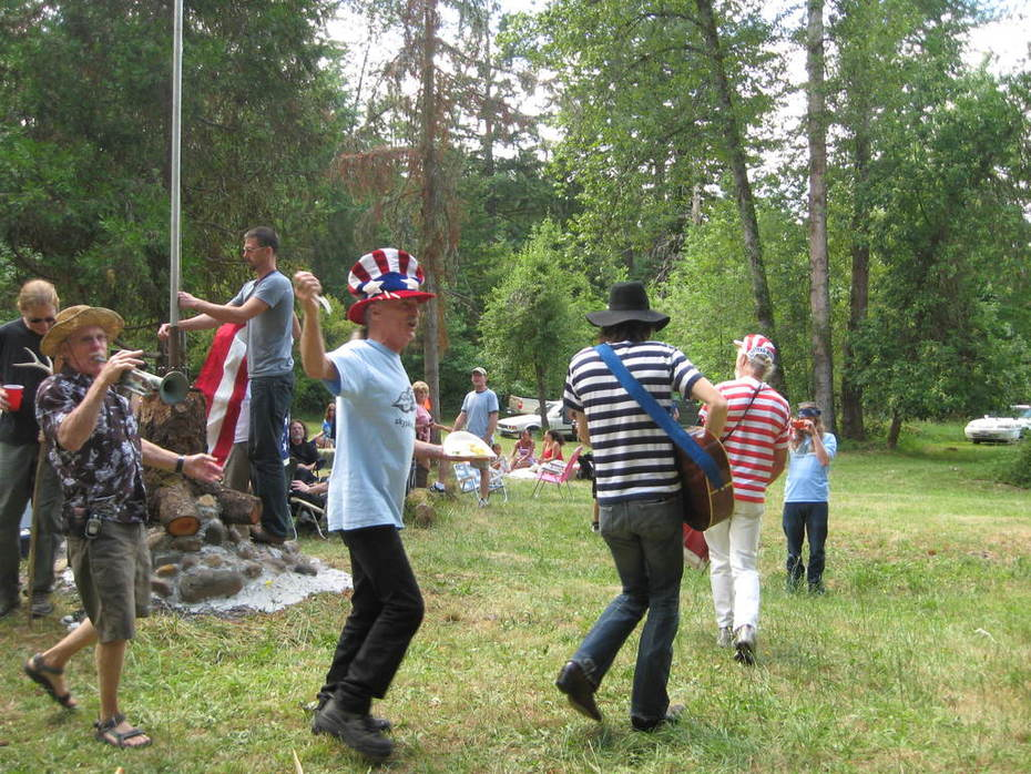 4th of July party with the Merry Pranksters