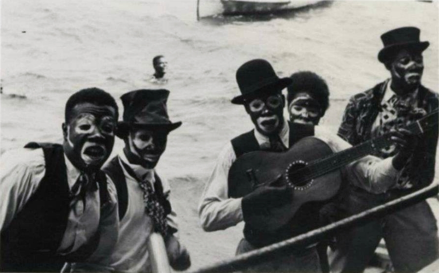 Kaisonians in blackface, POS Harbour, 1930s