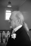 Dressed up for my daughter, Kelly's, wedding