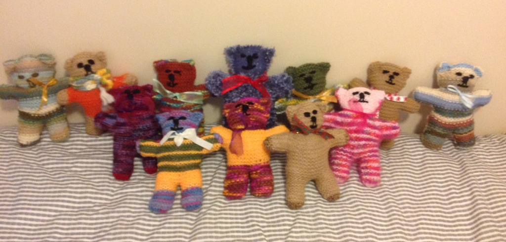 12 Teddy Bear cuddles. Numbers 27 to 38