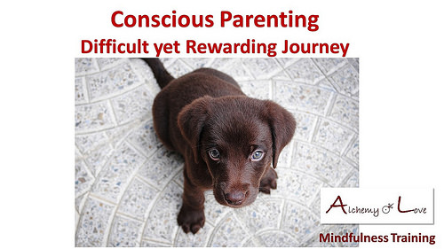 Conscious Parenting Rewarding Journey Alchemy of love mindfulness training by Nuit quotes