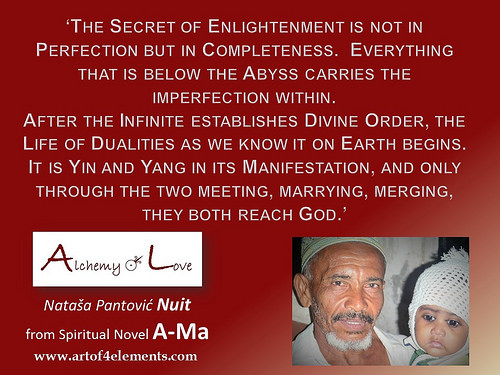 Ama Alchemy-of Love by Natasa Pantovic Nuit quote about enlightenment