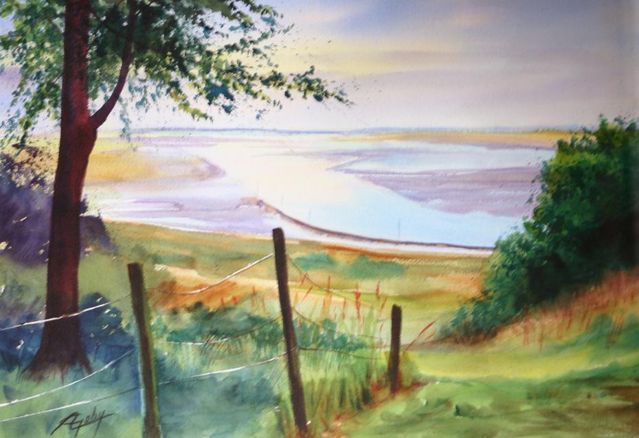 La Baie de Somme vue de la Chapelle des Marins