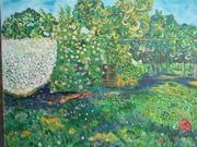 Le jardin en été Huile sur toile