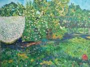 Le jardin en été Huile sur toile (2)