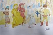 aquarelle 20 x 30 Procession du roitelet (2)