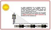 CONCEPTO DE UMBRA GNOMÓNICA