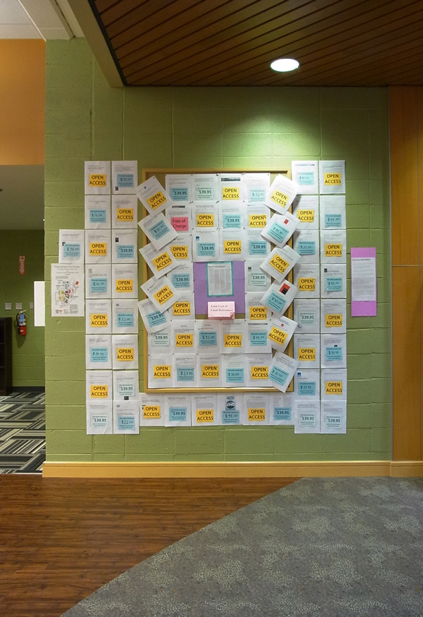 OA display in the CBU Library (Oct. 2015)
