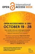 OA Week 2015 at CBU