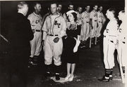 JD Queen and Fleta Ballard were married at homeplate April 13 1940