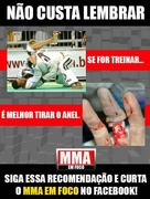 Do not wear jewelry when practicing Judo or Jiu Jitsu this can happen to you