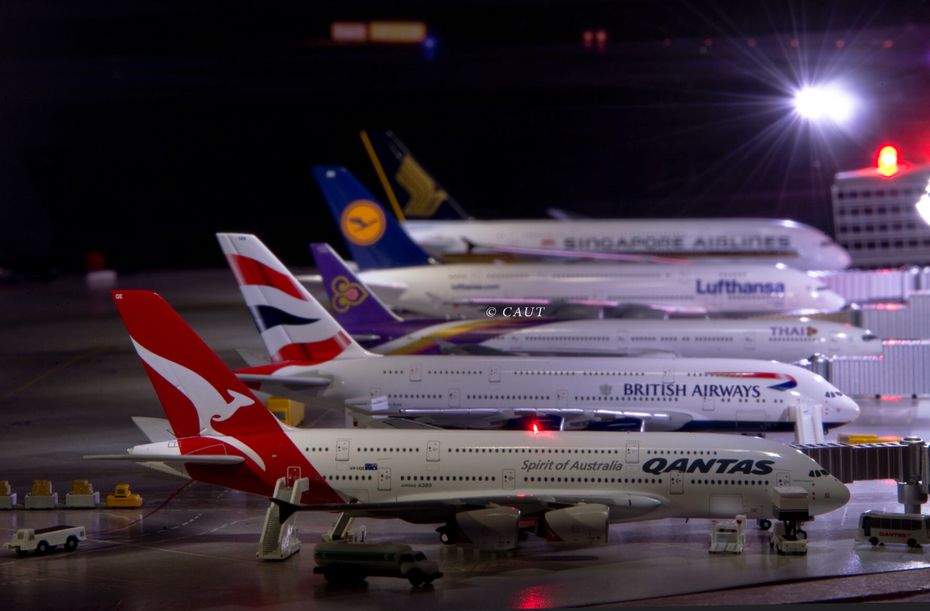 Airbus A380 lineup