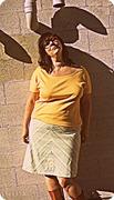 Chevroned Bias Skirt