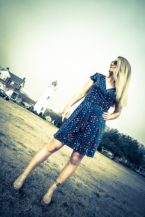Starry Seaside Wrap Dress